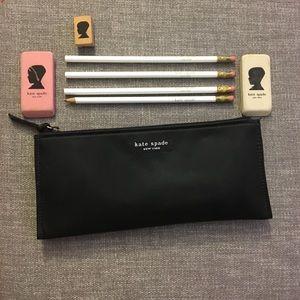 Kate Spade- vintage- Pencil Case w/ supplies